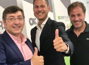 Carlos Durán director deIB Magazine, Othman Ktiri presidente ejecutivo y fundador deOK Groupy Toni Moreno director deIB Editorial.